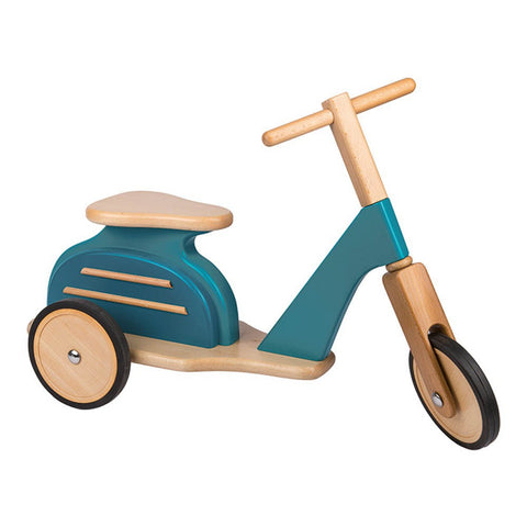 Blue Wooden Scooter