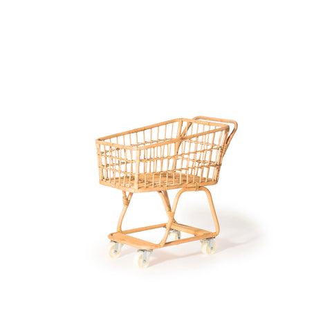 Rattan Shopping Cart