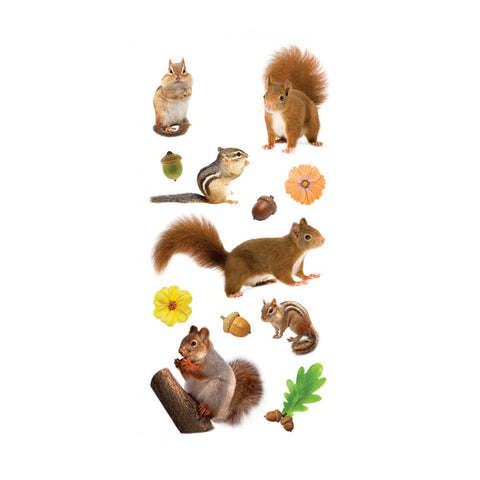 Squirrel and Foilage Stickers