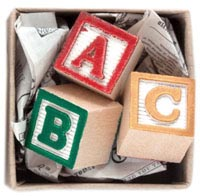 Tiny Package Mail Gift- ABC Blocks