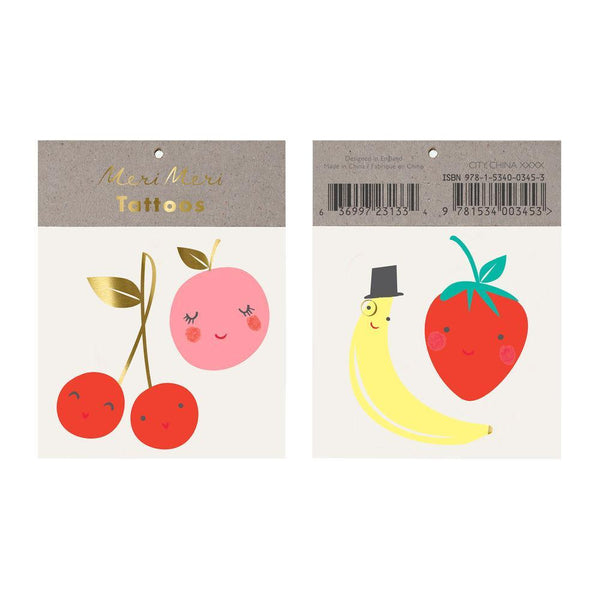 Happy Fruits Tattoo Set