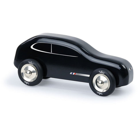 French Black Wooden Car