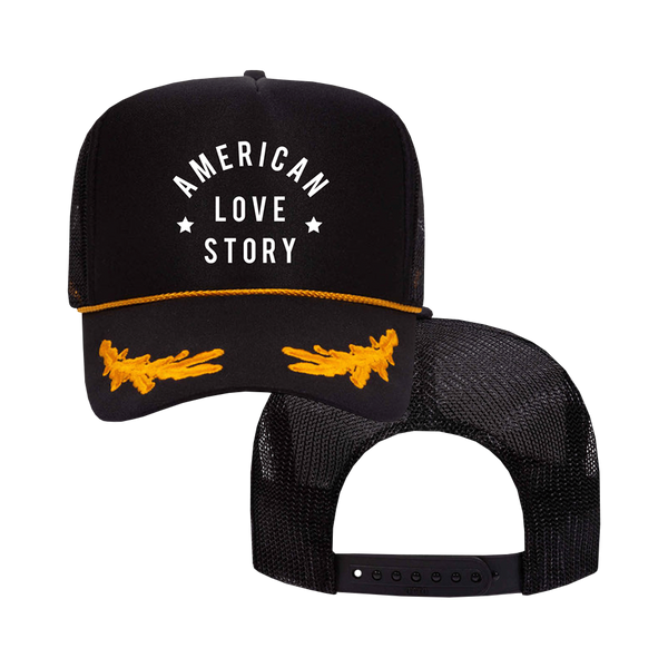 American Love Story Embroidered Trucker Hat