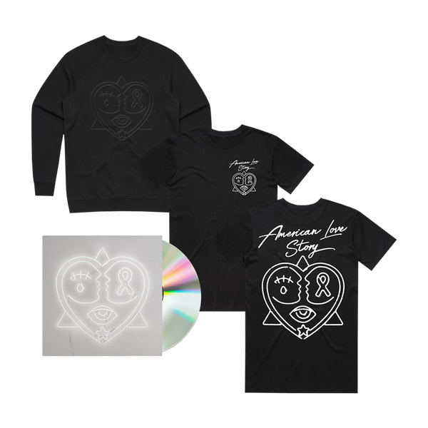 American Love Story CD + Crewneck + T-Shirt