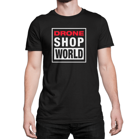Drone Shop World Retro Short Sleeve T-shirt (Front & Back)