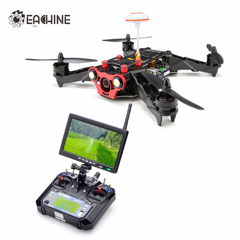 Eachine Racer 250 FPV Drone w/ Eachine I6 2.4G 6CH Transmitter 7 Inch 32CH Monitor HD Camera RC Quadcopter Mode 2 RTF