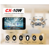 Cheerson CX-10W Mini Drone RC Quadcopter with HD Camera FPV WIFI