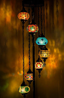 *HANDMADE* MOSAIC GLOBE LAMP DIFFERENT COLOR ARRANGEMENTS