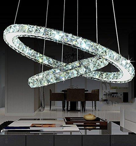 Galaxy Round Rings Crystal Chandelier - New