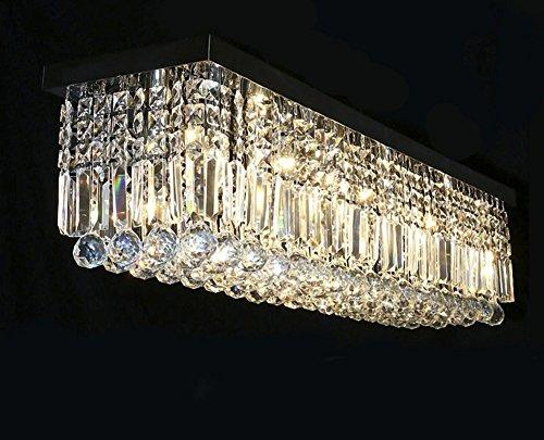 Rectangular Raindrop Crystal Chandelier