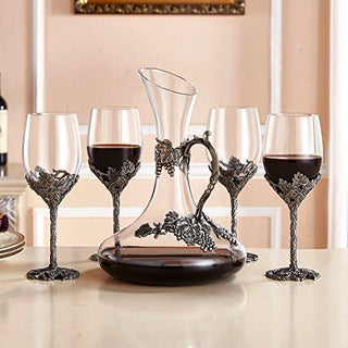 Handblown Crystal Wine Glasses Set