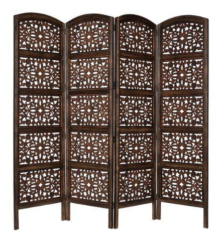 Handcrafted Antique Wood Room Divider
