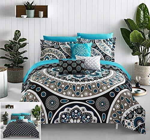 10 Piece Mornington Contempo Bohemian Reversible Comforter
