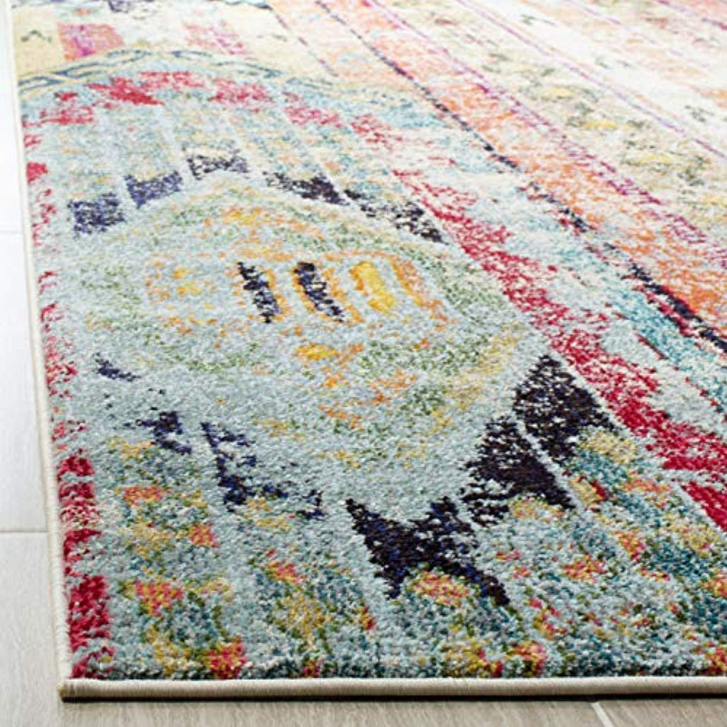 HANDMADE Modern Bohemian Multicolored Distressed Area Rug