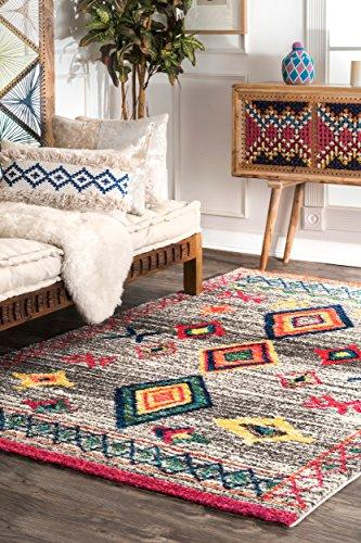 Tribal Shag Area Rug