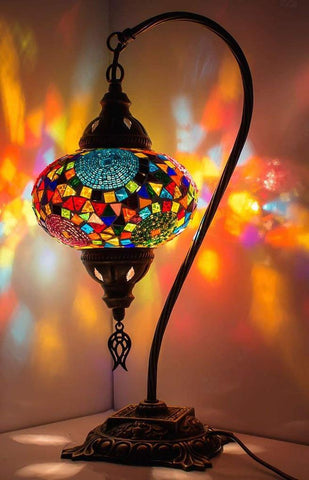 *HANDMADE* MOSAIC SWAN LAMP (FREE AND FAST EXPEDITED 5 DAY SHIPPING)