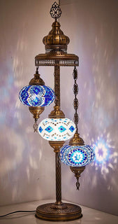 CUSTOMIZED 3 GLOBE MOSAIC LAMP