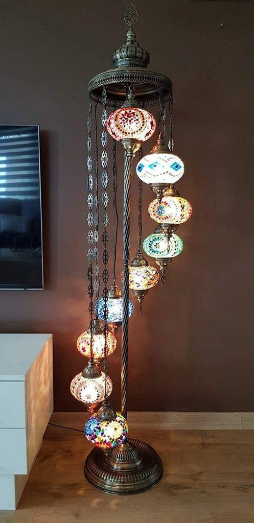 *HANDMADE* MOSAIC FLOOR LAMP * CUSTOMIZED (BIG GLOBES)