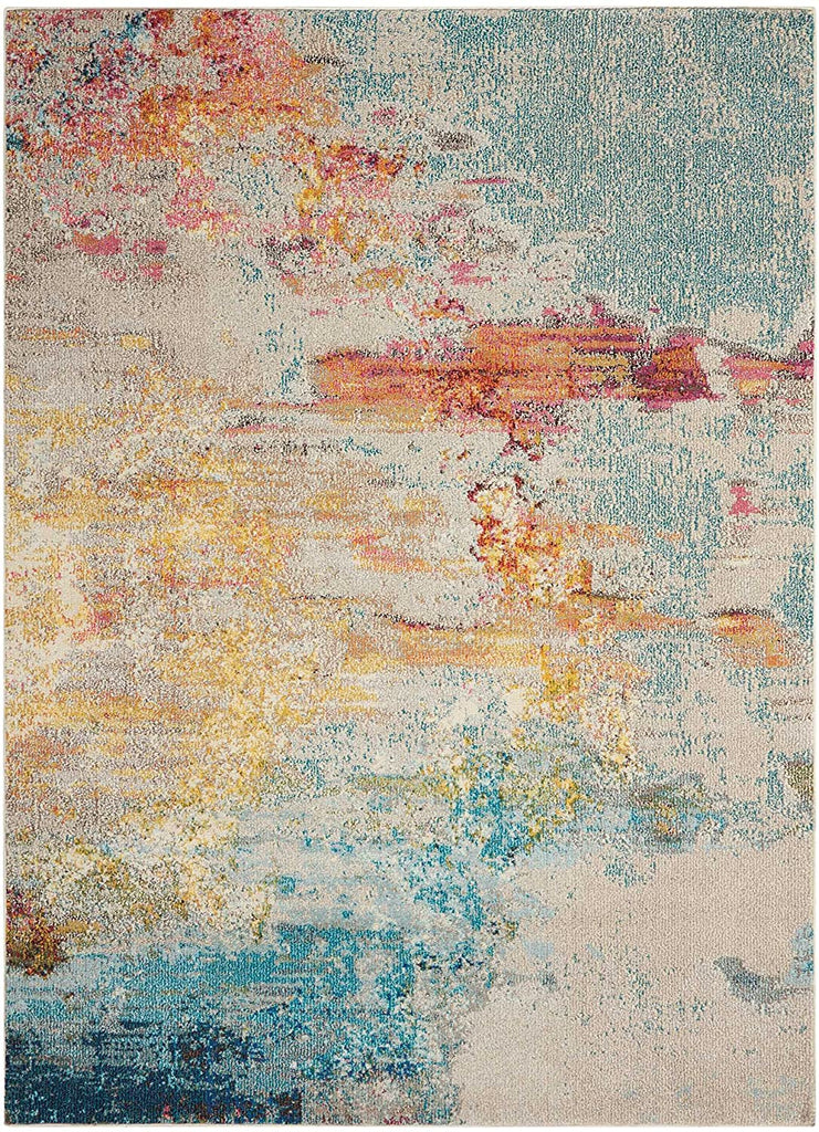 Modern Watercolor Area Rug