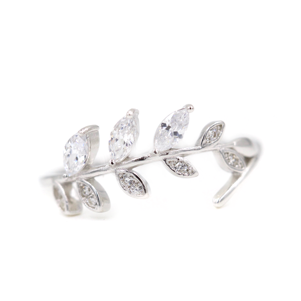 Dainty Branch CZ Ring