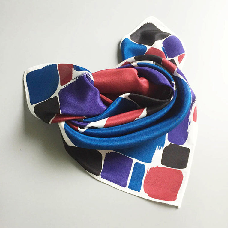 Bold Dot Square Silk Scarf