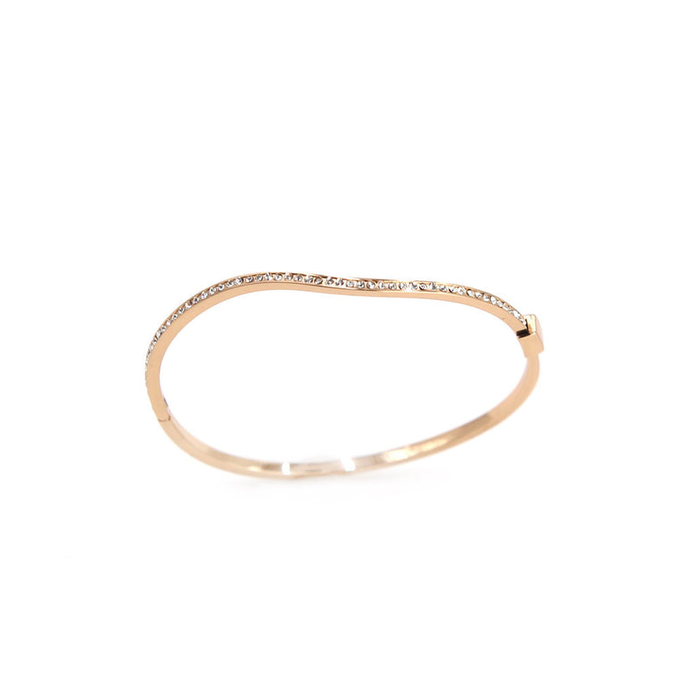 Rose Gold Delicate Curved bracelet