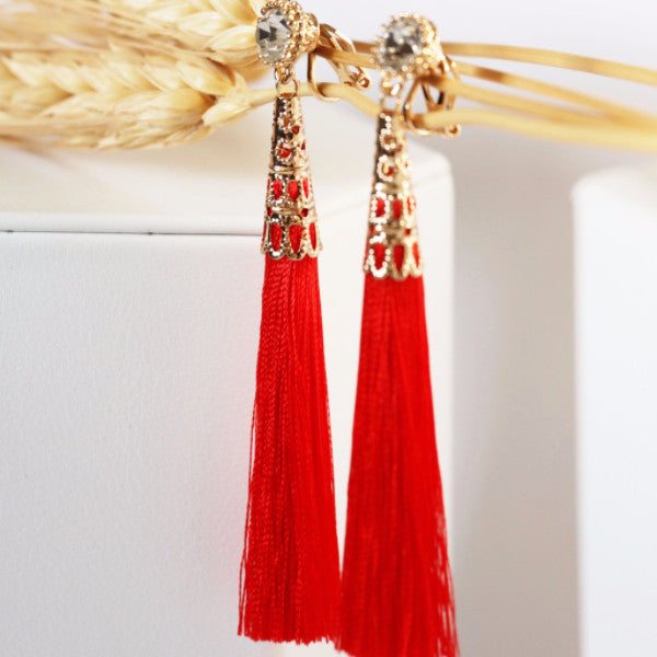 Misha Tassel Drops-Red