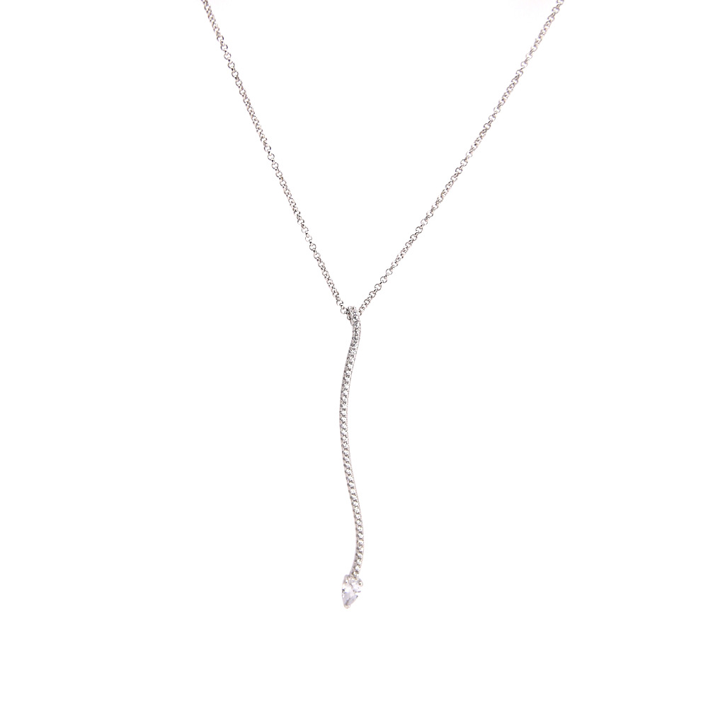 Snake Crystal Sterling Silver Necklace