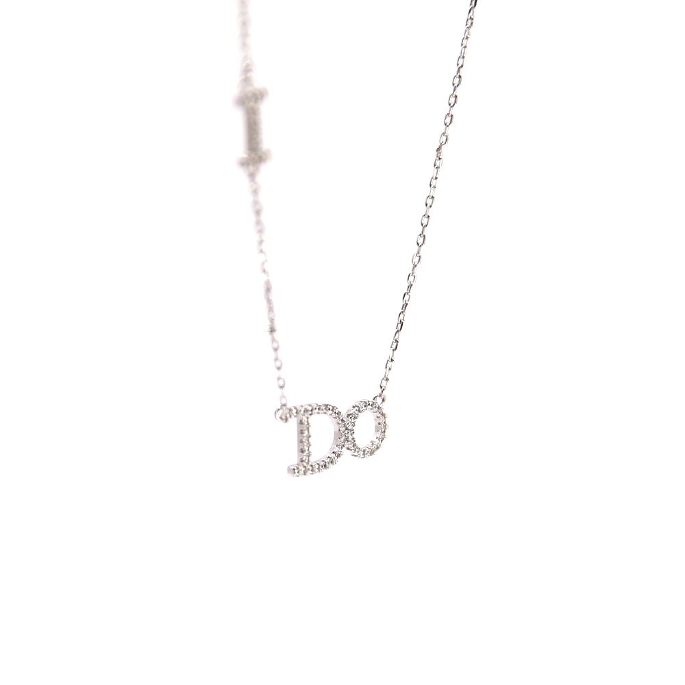 I Do Pendant Silver Necklace
