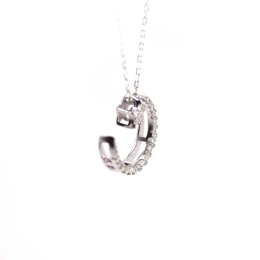 Moon and Star CZ Necklace