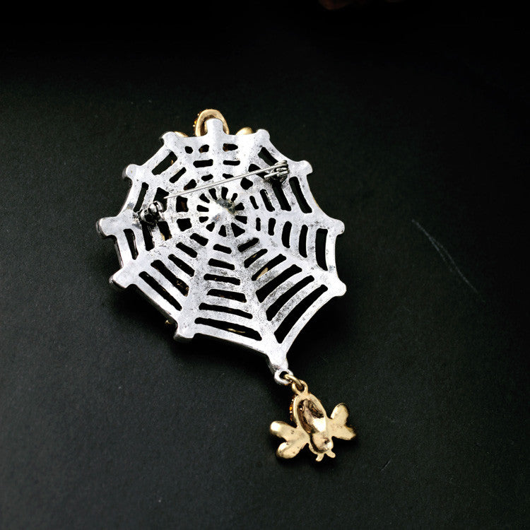 Vintage Inspired Spider Web Brooch