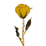 Real Yellow Gold Trimmed Rose