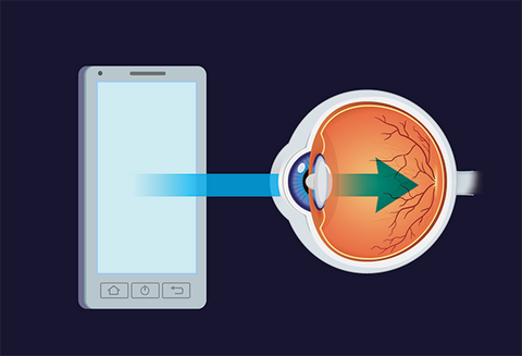 Blue light from cell phones and computers damages your eyes and causes sleeplessness