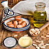 The Balm Argan and Babussa oil hair texturizer and Beard balm, hair, Goodness Soaps
