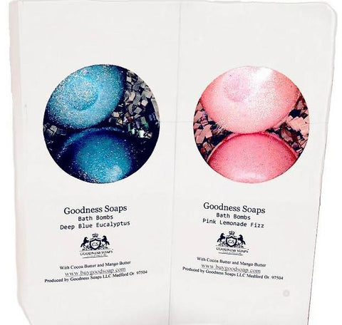 GS Luxe Bath Bombs 3 pack-(click to see scent/color options), Bath bombs, Goodness Soaps