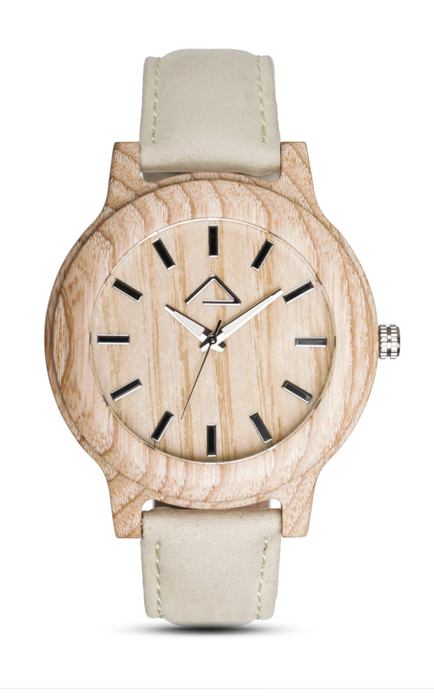 KAPALL with beige suede strap - WOOD WATCHES WOODWATCH - ECO-FRIENDLY WATCHES HEADPEACE - HEADPEACE