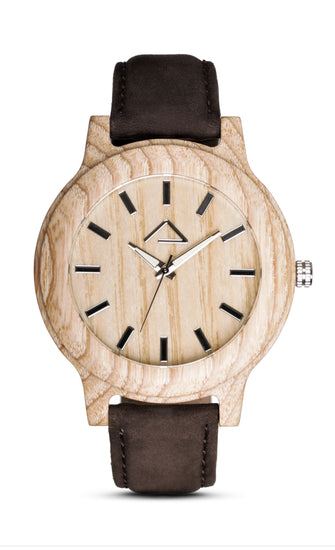 KAPALL with dark brown suede strap - WOOD WATCHES WOODWATCH - ECO-FRIENDLY WATCHES HEADPEACE - HEADPEACE