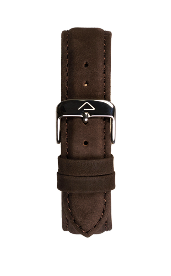 Dark brown suede leather strap - WOOD WATCHES Straps - ECO-FRIENDLY WATCHES HEADPEACE - HEADPEACE