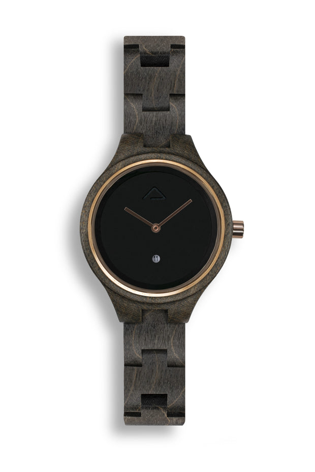 Victoria Black - WOOD WATCHES WOODWATCH - ECO-FRIENDLY WATCHES HEADPEACE - HEADPEACE