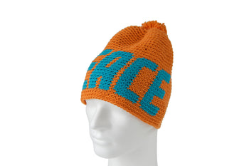 PEACE Orange - WOOD WATCHES CROCHET BEANIES - ECO-FRIENDLY WATCHES HEADPEACE - HEADPEACE