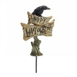 Halloween | Happy Halloween Sign Pick with Crow