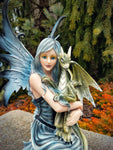 Fairy Holding Green Dragon