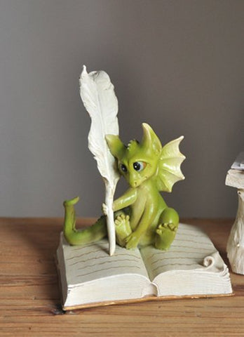 Dragon Writing Figurine