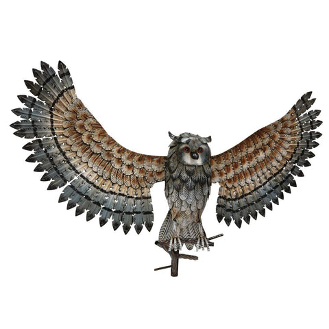 Metal Owl Décor Statue