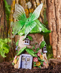Solar Light Up Butterfly Fairy House
