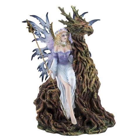 Forest Fairy with Tree Dragon Spirit Figurine