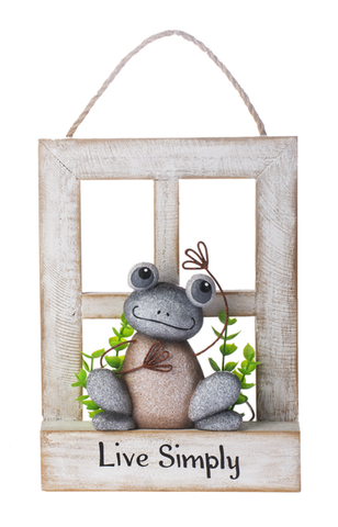 Pebble Frogs Box Window Plaque