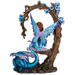 Fairy on Swing with Blue Dragon