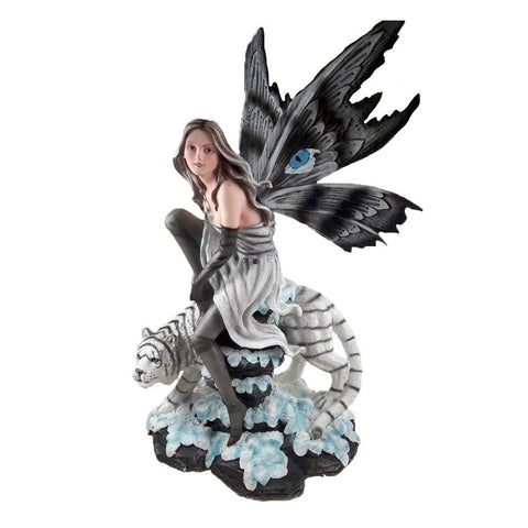 Butterfly Wing Fairy with White Tiger
