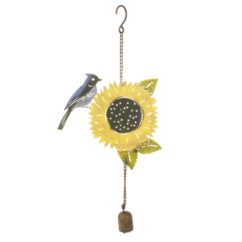 Rustic Bird Sunflower Chime